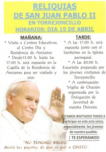 Reliquias Juan Pablo II