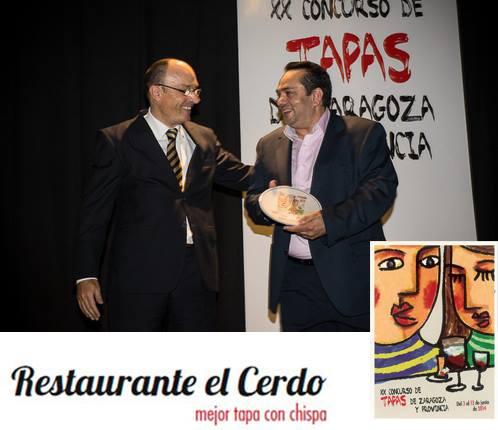 El restaurante del torrejoncillano, Miguel Ángel Crespo, galardonado a la mejor tapa con chispa de Coca Cola.