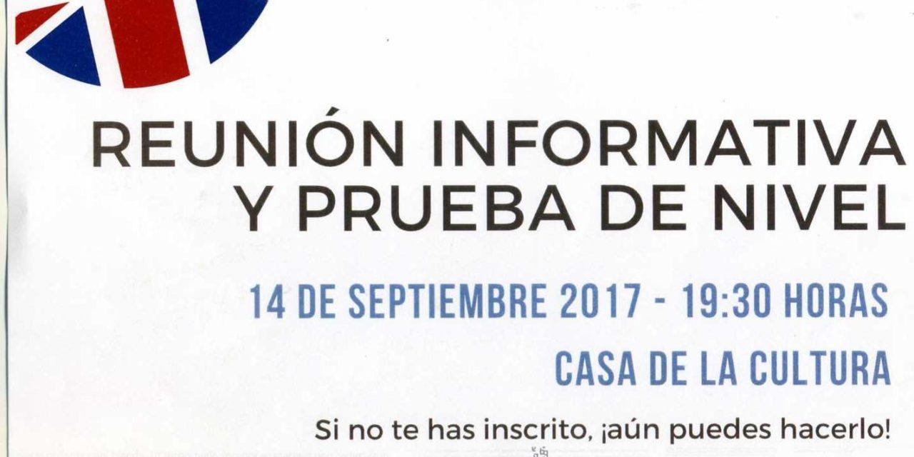 Reunión informativa y prueba de nivel del Centro Local de Idiomas