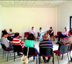 Alcaldes socialistas de la comarca cacereña de Valle del Alagón muestran su preocupación por el estado de las carreteras