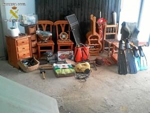 Artículos sustraídos en diferentes robos en casas de campo - CEDIDA; ARCHIVO