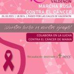 MARCHA ROSA CONTRA EL CÁNCER ESTE MARTES EN VALDENCÍN