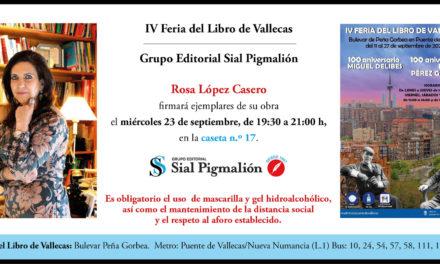 Rosa María López estará en la Feria del Libro de Vallecas, en Madrid