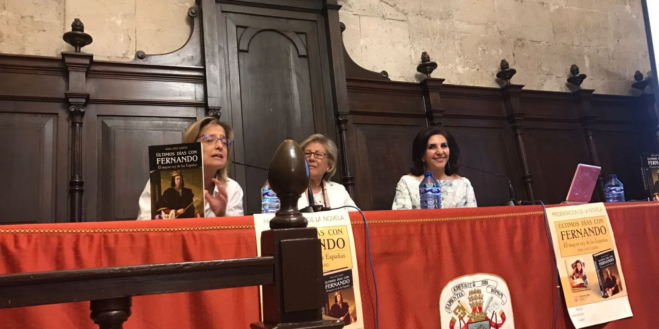 Conferencia sobre Fernando el Católico en  el Rectorado de la Universidad de Valladolid por Rosa López