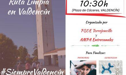 PSOE Torrejoncillo y AMPA Entrecanales organizan una Marcha Limpia en Valdencín