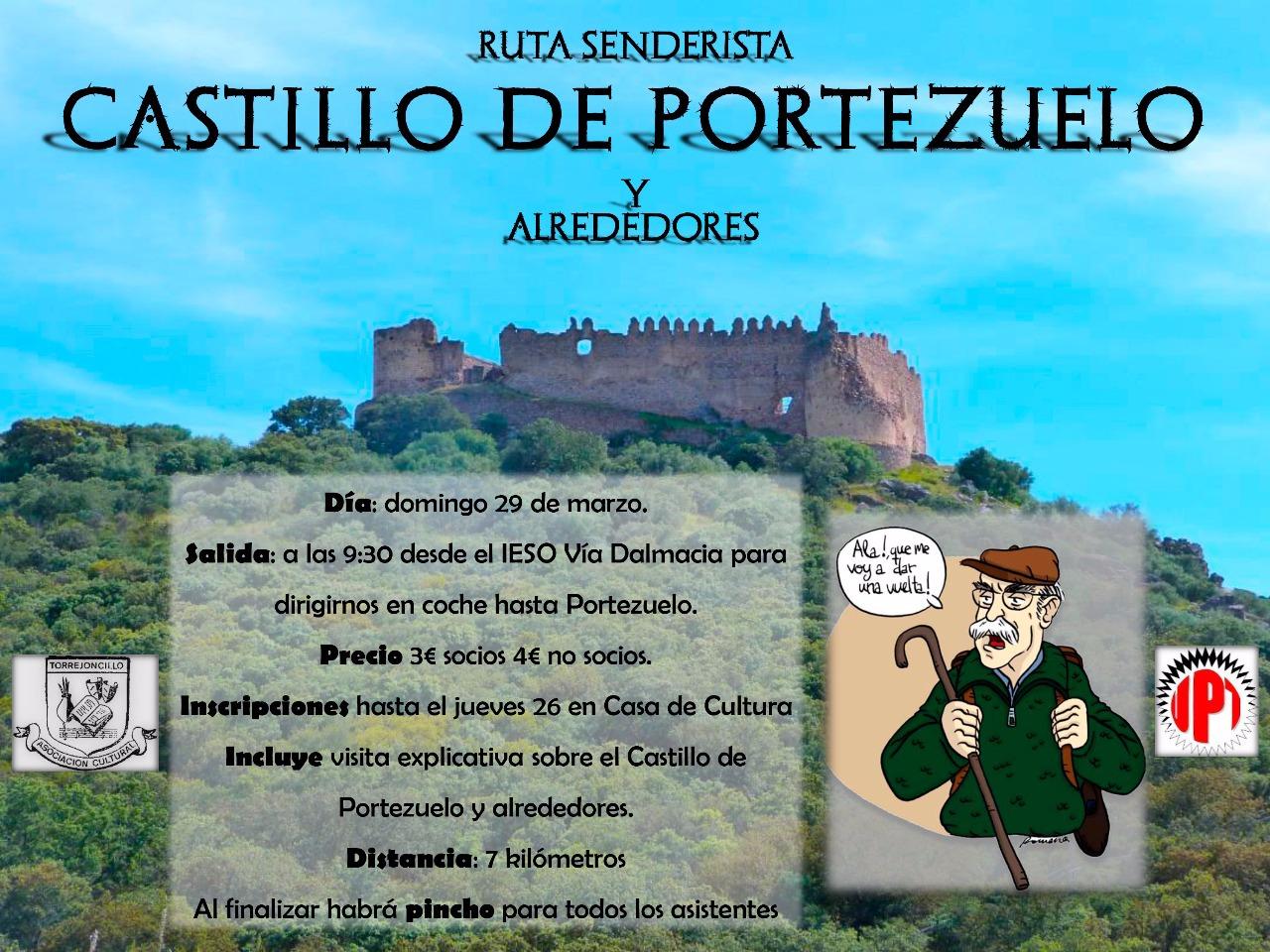 Ruta senderista Castillo de Portezuelo y alrededores con la Cultural