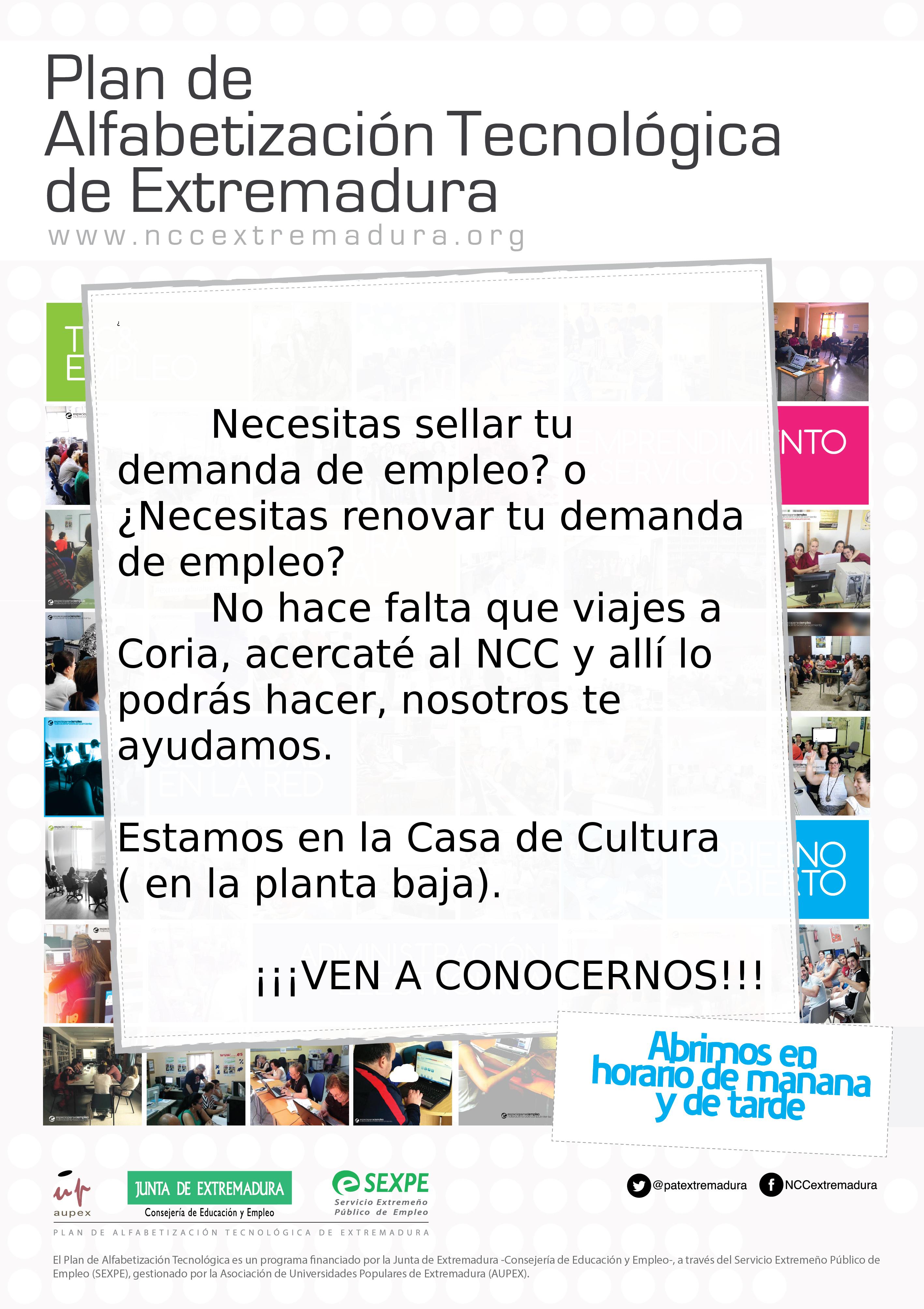 Ya puedes sellar o renovar tu demanda de empleo en Torrejoncillo
