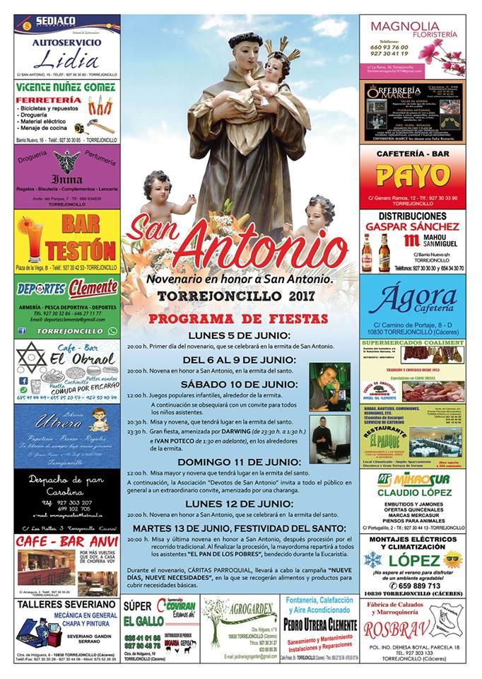 Programa de fiestas en honor a San Antonio
