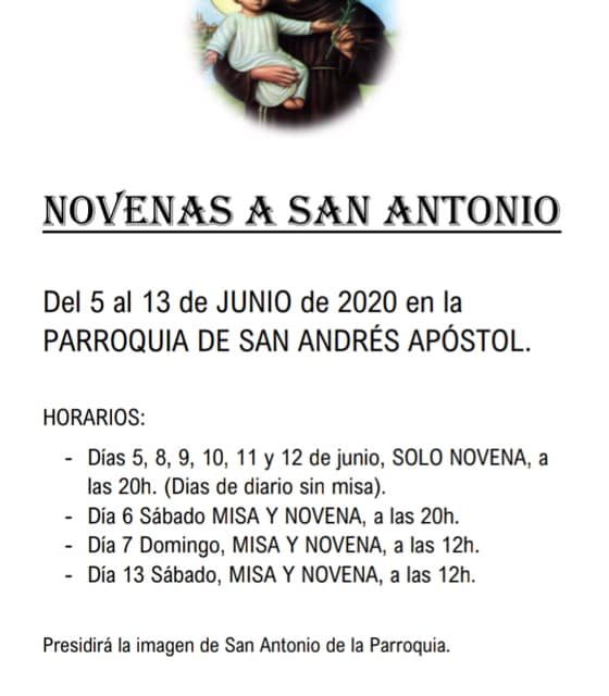 Novenas de San Antonio