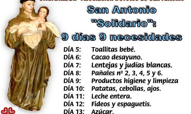 """San Antonio; """"Solidario"""": 9 días , 9 necesidades."""