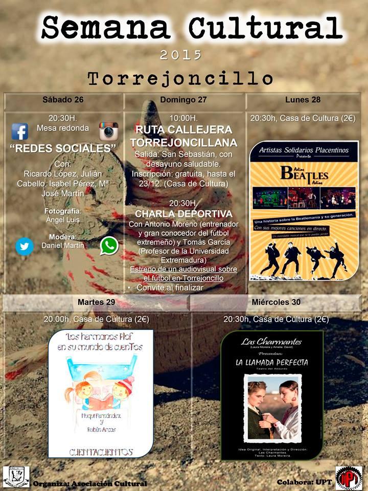 LLega la Semana Cultural Torrejoncillana 2015