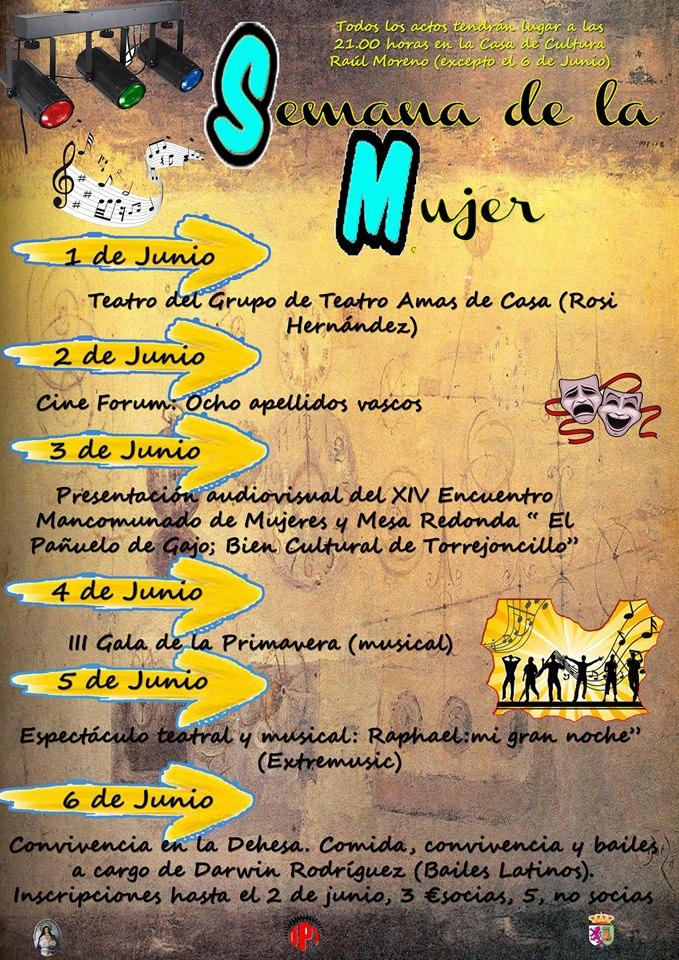 Atractivo programa para la Semana de la Mujer en Torrejoncillo