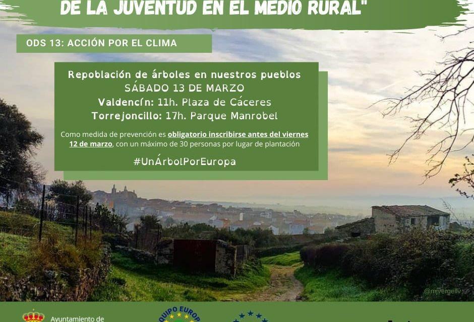 REPOBLACIÓN DE ÁRBOLES EN TORREJONCILLO Y VALDENCÍN