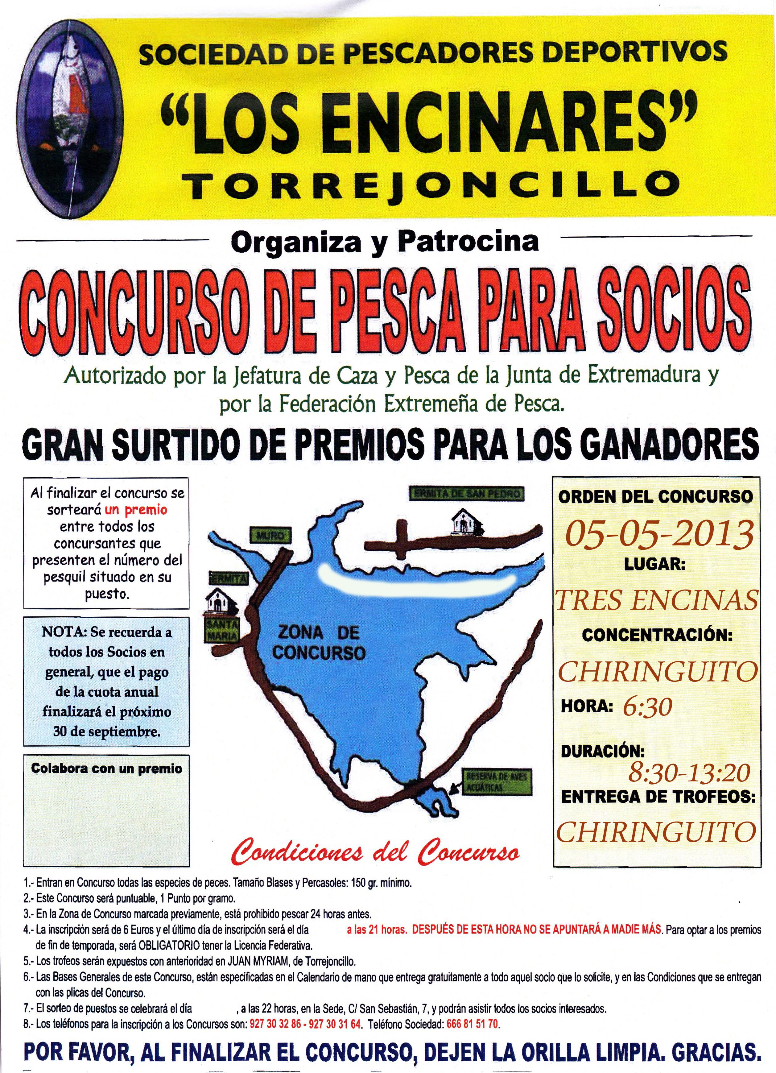 """La Sociedad de Pescadores """"Los Encinares"""" celebra el tercer concurso de la temporada"""