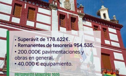 Torrejoncillo cierra su presupuesto 2020 con un superávit cercano a 180.000 euros
