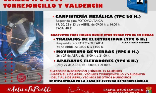 CURSOS TPC 2021 TORREJONCILLO-VALDENCIN