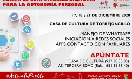 TALLER DE COMPETENCIAS DIGITALES PARA LA AUTONOMÍA PERSONAL