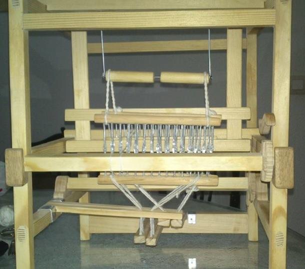 Un telar torrejoncillano en el Museo Etnográfico de San Sebastián de los Reyes