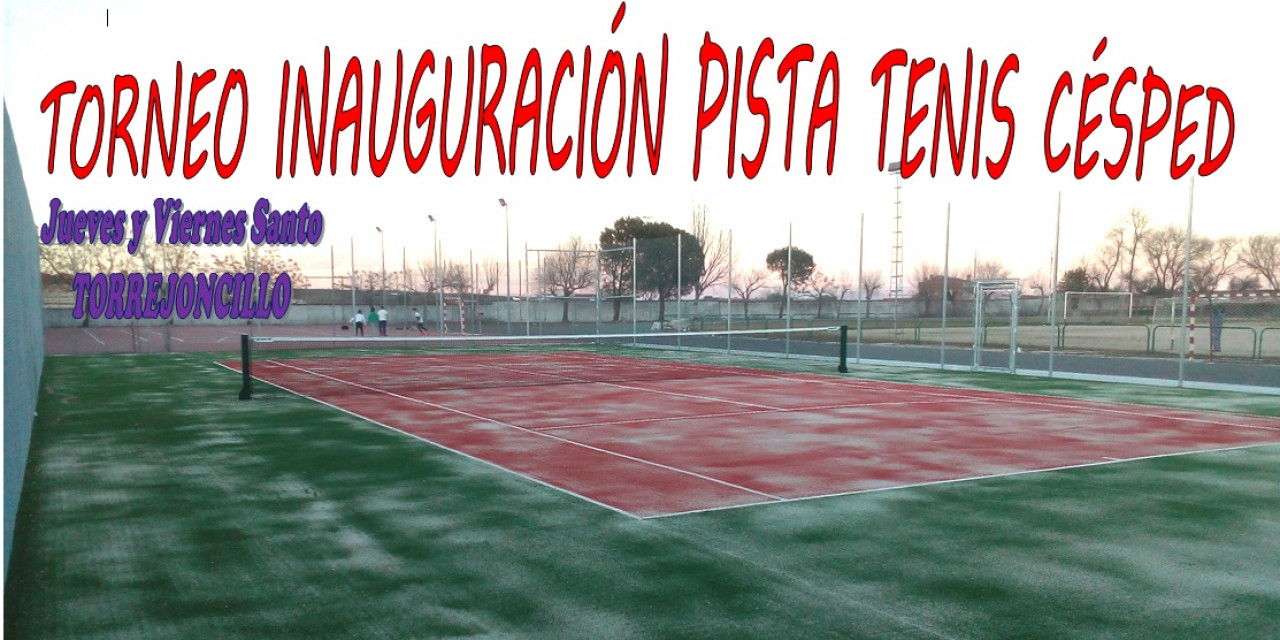 Estreno de la pista de tenis artificial