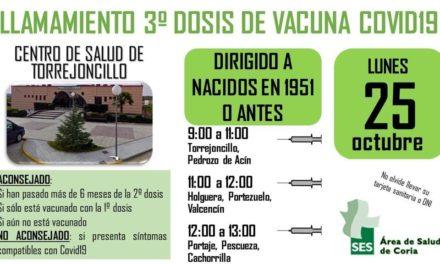 LLAMAMIENTO 3ª DOSIS VACUNA COVID-19
