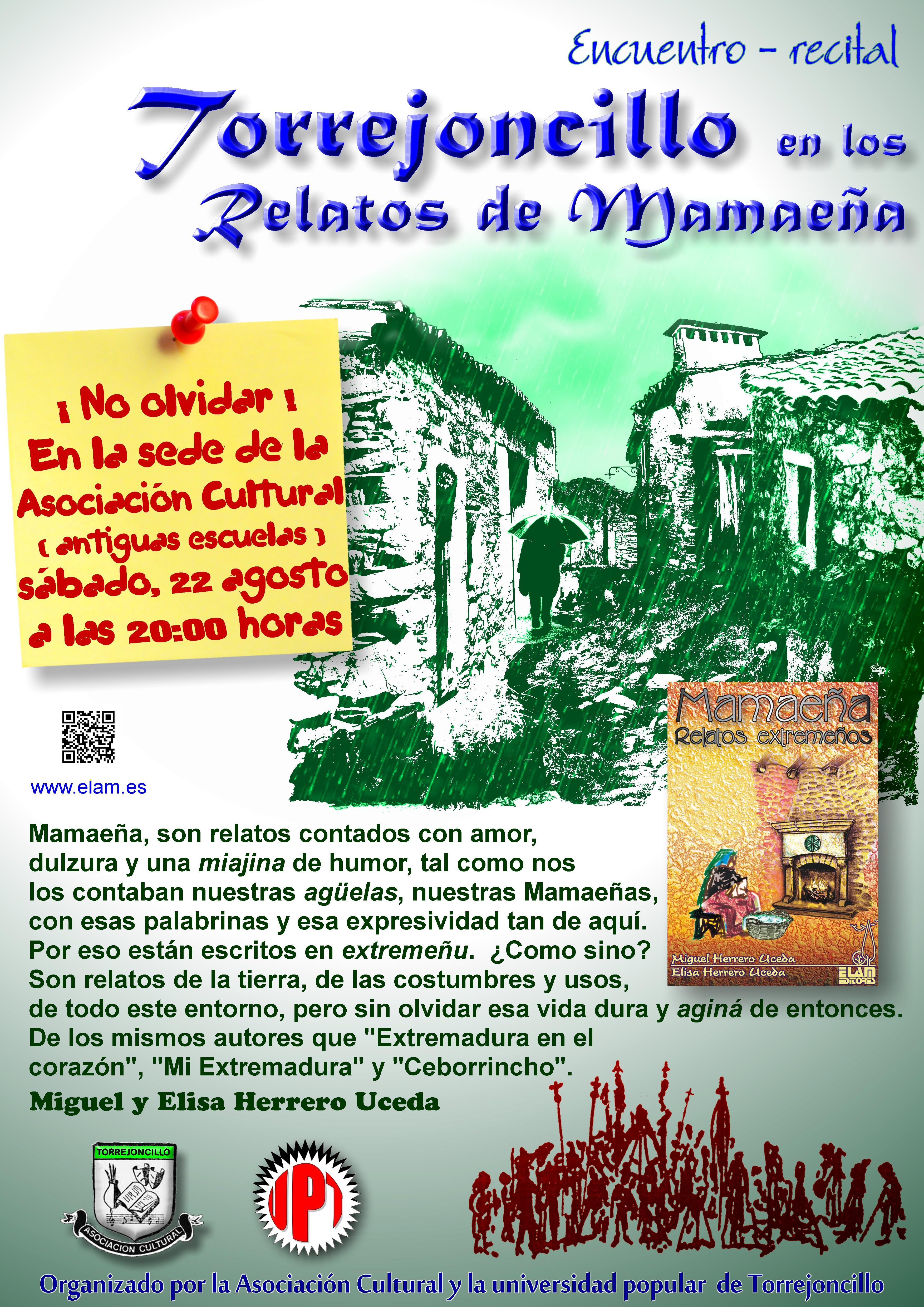 Presentación de «Mamaeña, relatos extremeños»