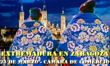 El traje típico de Torrejoncillo en el 45º aniversario de la fundación del  Hogar Extremeño de Zaragoza