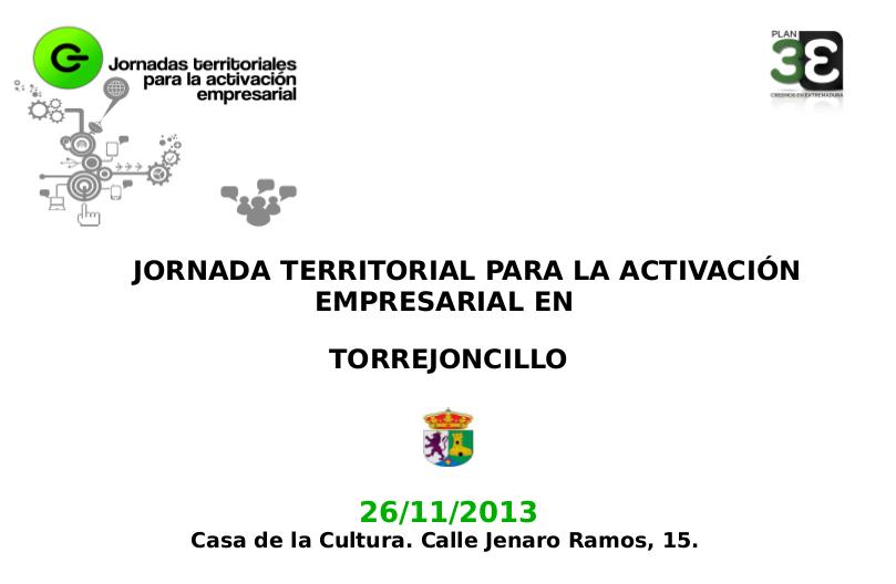 Jornadas de activación empresarial en Torrejoncillo