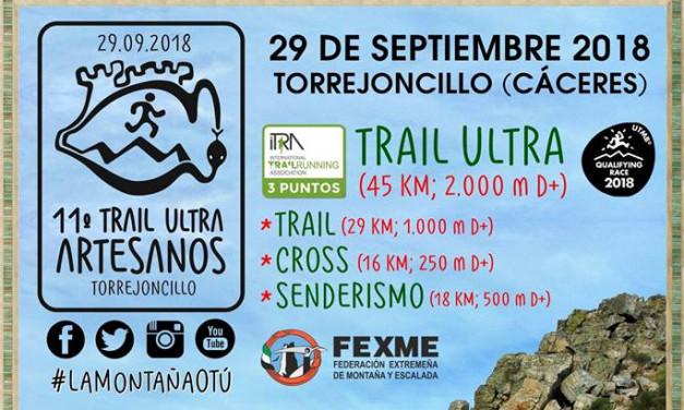 Llega el XI Trail Ultra Artesanos el próximo sábado 29 de Septiembre
