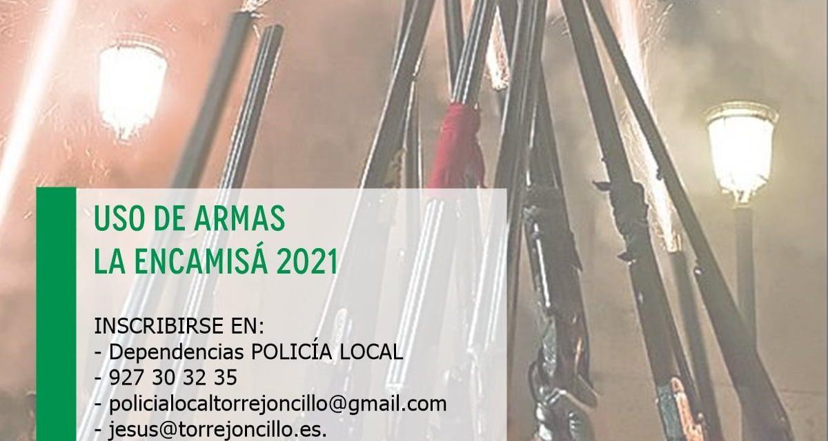 USO DE ARMAS ENCAMISÁ 2021