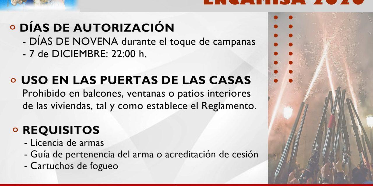 NORMAS SOBRE EL USO DE ARMAS EN LA ENCAMISÁ 2020