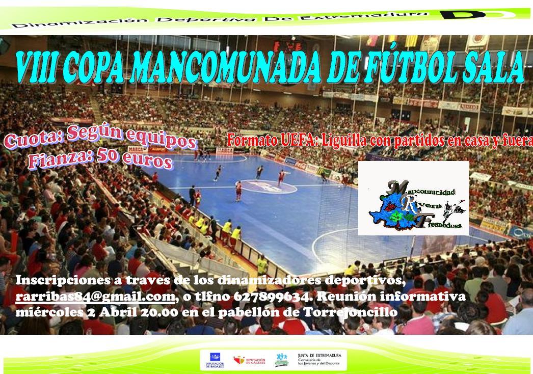 Pistoletazo de salida a la VIII Copa Mancomunada de Fútbol Sala