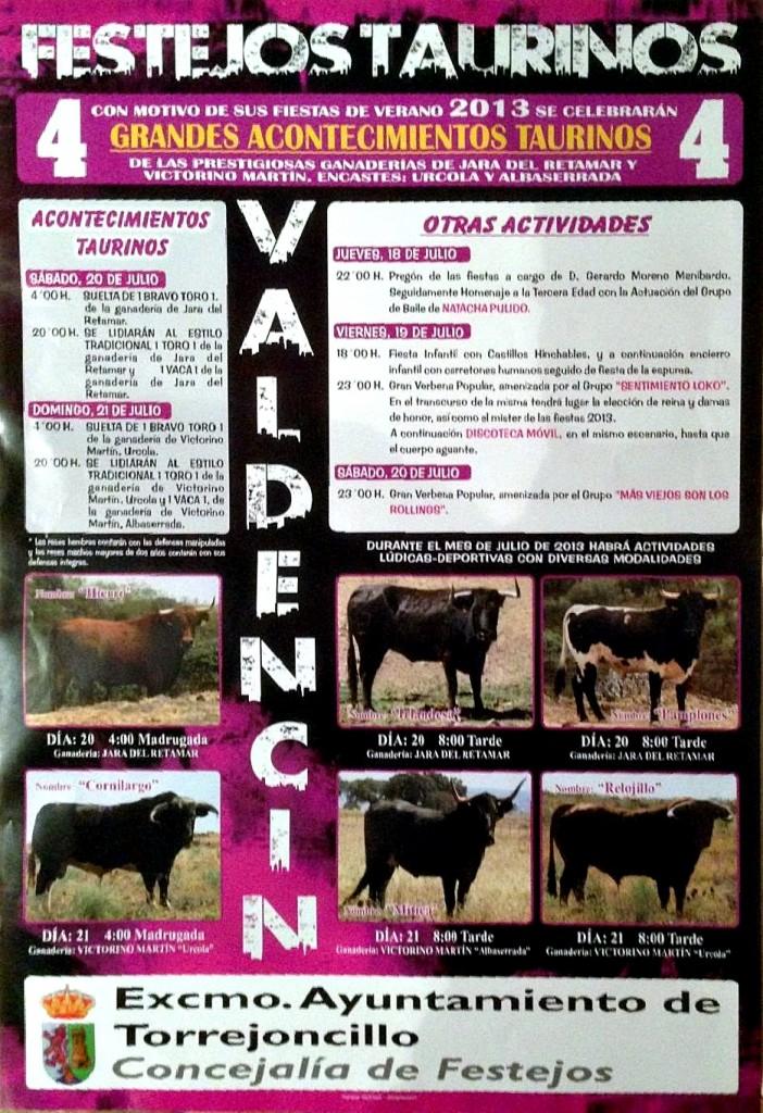 Cartel de las Fiestas de Valdencín 2013 - CEDIDA