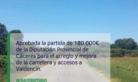 Arreglo del tramo que faltaba en la carretera de Valdencín