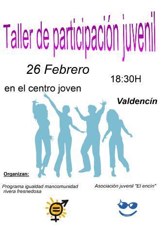 Taller de participación juvenil en Valdencín