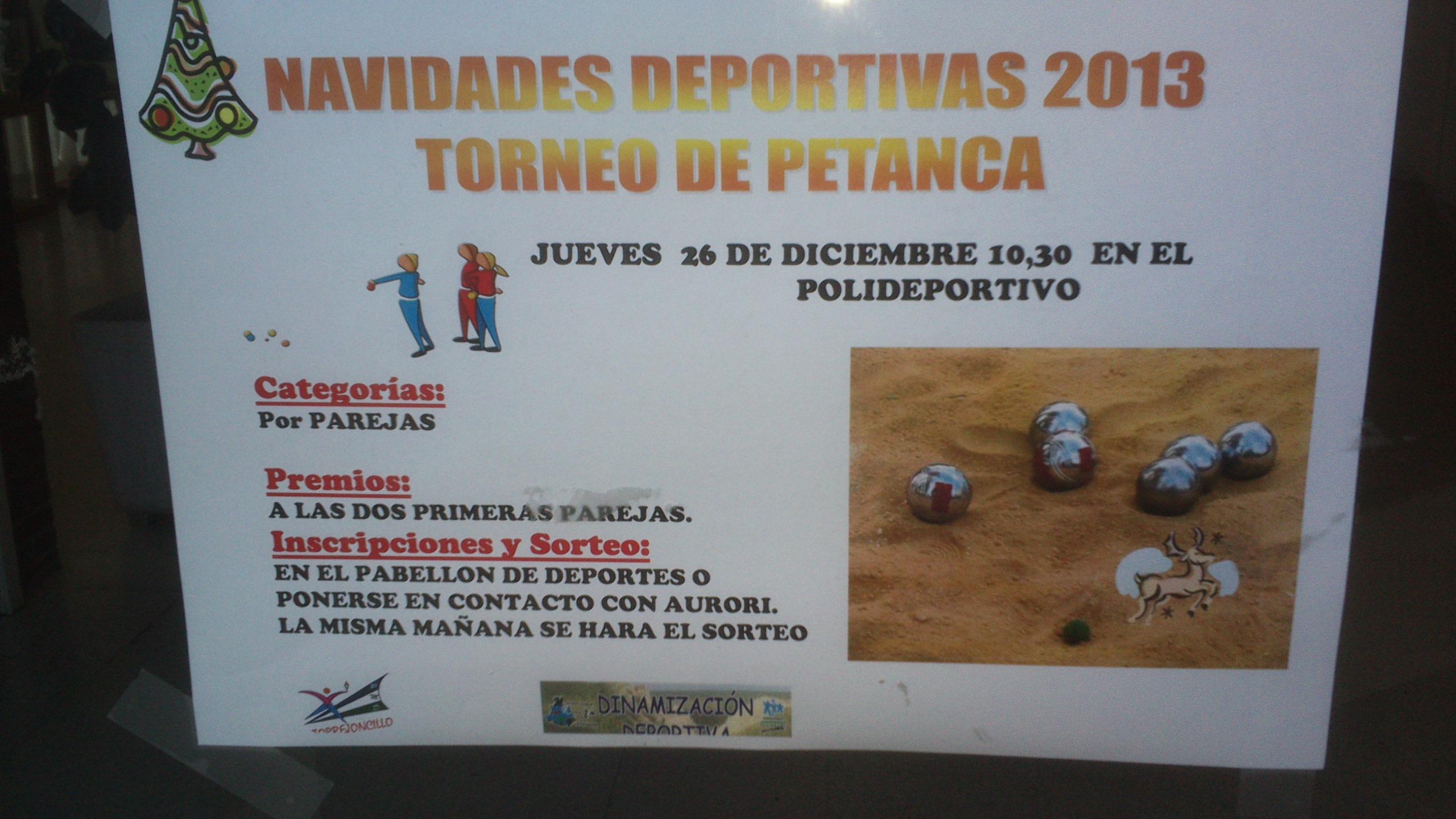 Los torneos de Petanca, Voley 2×2 y Fútbol 3×3 vuelven por navidad.