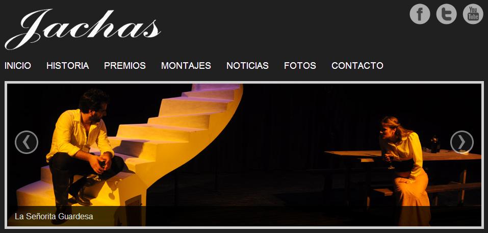Inicio de la web oficial de Jachas Teatro. Pincha en la imagen para acceder a ella - JACHAS TEATRO