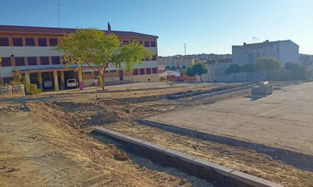 Arrancan las obras en las pistas polideportivas del CEIP Batalla de Pavía