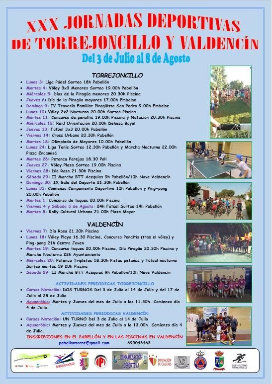XXX Jornadas Deportivas de Torrejoncillo y Valdencin