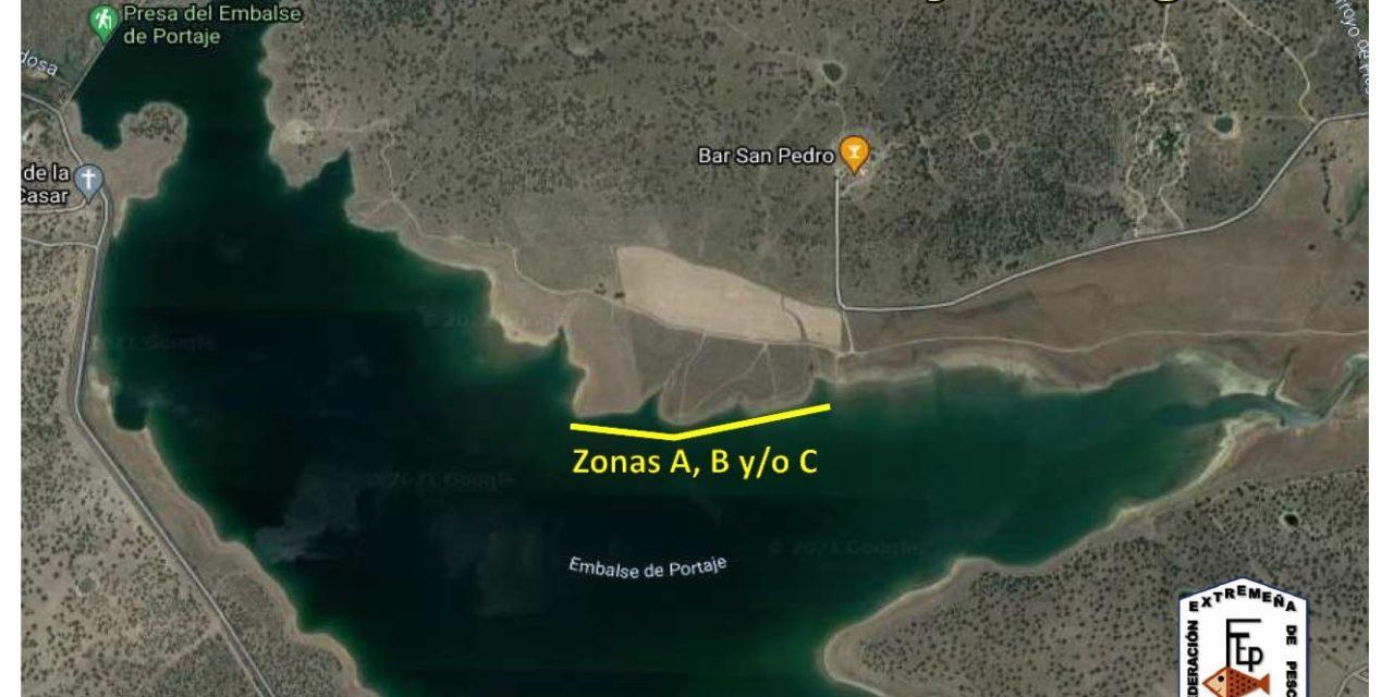 El Pantano de Portaje, zona de entrenamientos