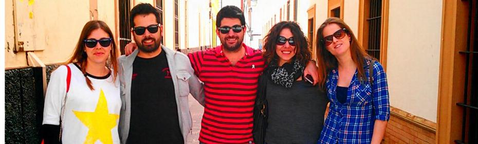 Los integrantes de Jachas Teatro en Dos Hermanas (Sevilla) - JACHAS TEATRO
