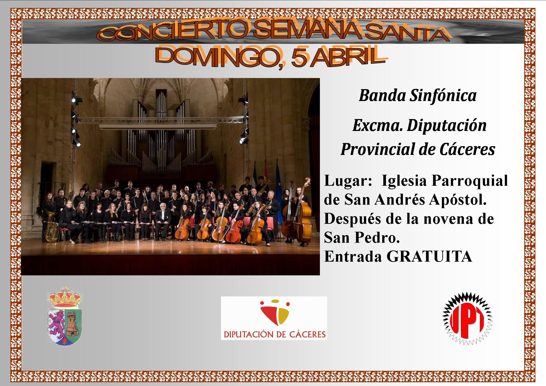 La Banda Sinfónica de Cáceres dará el Concierto de Semana Santa