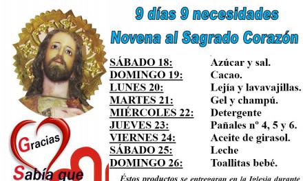 Novena al Sagrado Corazón: Nueve días, nueve necesidades.