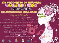 Programa actividades XIV encuentro de mujeres mancomunado