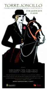 Cartel Oficial de la Exhibición de Doma Vaquera y Alta Escuela de Torrejoncillo (Cáceres) - LA ESPUELA