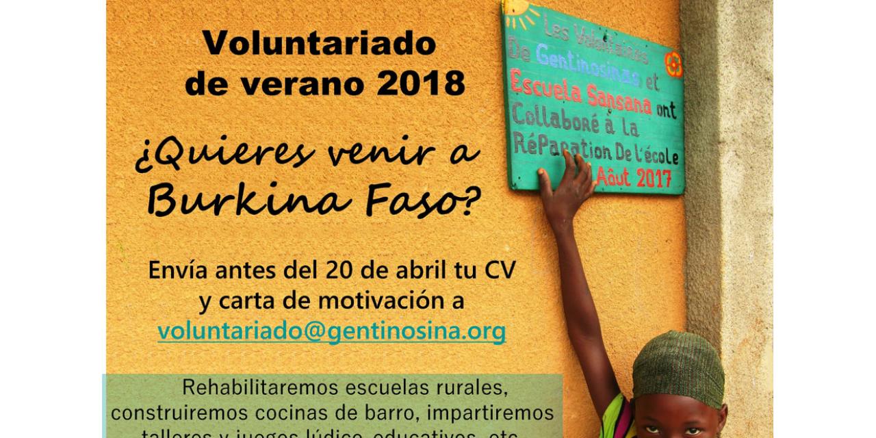 Voluntariado en Burkina Faso, Verano de 2018