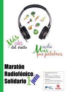 cartel maraton radio solidario_cifprioebro