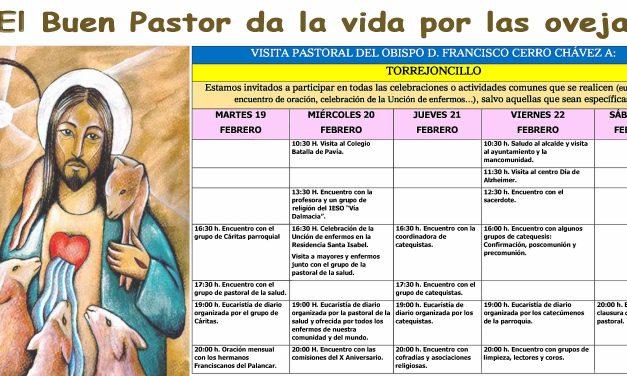 Visita Pastoral del Obispo D. Francisco Cerro a Torrejoncillo