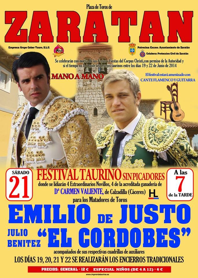 Emilio de Justo y El Cordobés en un mano a mano