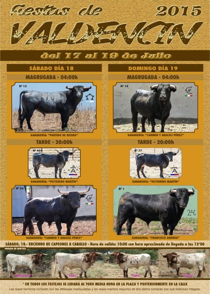 Cuatro toros y dos vacas para su lidia en Valdencín