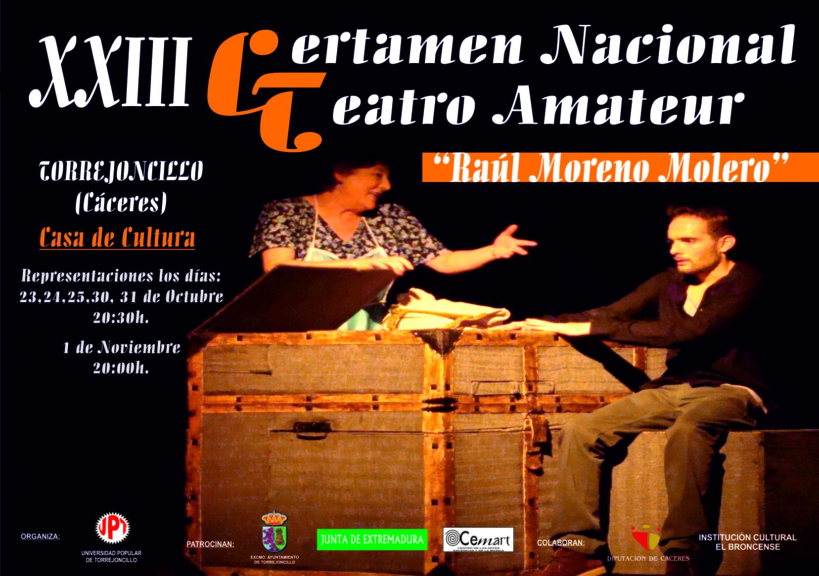 XXIII Certamen Nacional de Teatro «Raúl Moreno Molero»